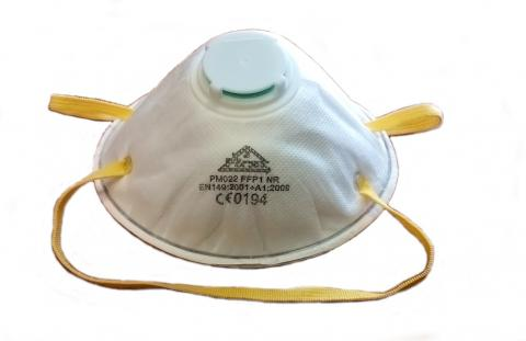 """PROTECTION MASK FFP1 """"FIRST"""" WITH EXHALATION VALVE"""